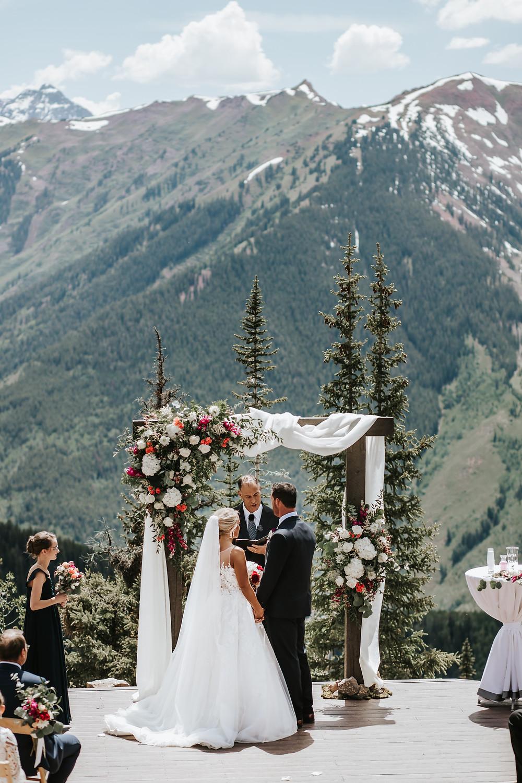 Aspen, Colorado breathtaking mountain-top intimate wedding ceremony