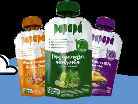 Papapá oferece papinhas saudáveis e acessíveis para auxiliar os pais na introdução alimentar