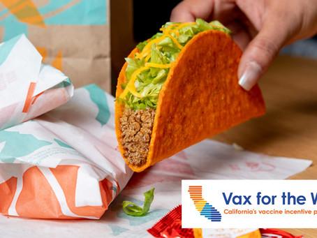 Taco Bell oferece tacos de graça para quem se vacinar na Califórnia