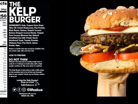 O pioneiro hambúrguer à base de algas