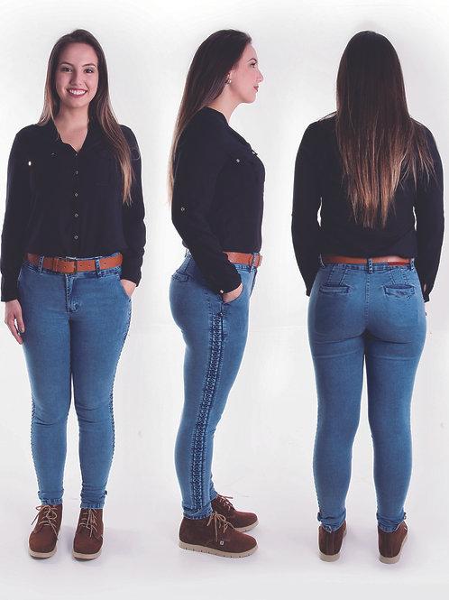 Bombacha Feminina Favo Jeans