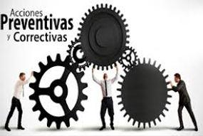 TALLER DE ACCIONES CORRECTIVAS Y PREVENT