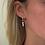 Thumbnail: pearl drop earrings in silver