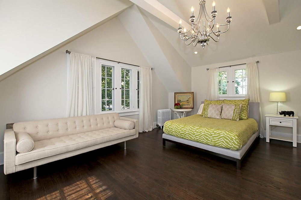 Maplewood Room remodel, vaulted ceiling, casement windows