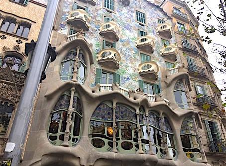 Barcelona: Gaudi's Casa Batllo and the Nextdoor Neighbor, Casa Amatller