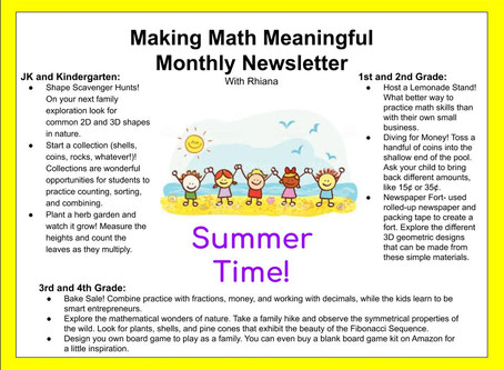 Making Math Meaningful: Summer Time!
