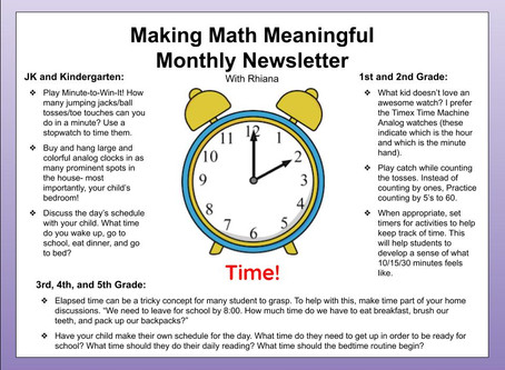 Making Math Meaningful: Time
