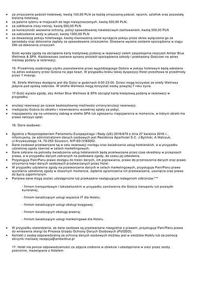 regulamin Amber Blue Wellness & SPA -2.j