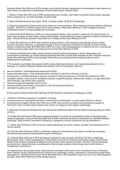 regulamin Amber Blue Wellness & SPA -1.j