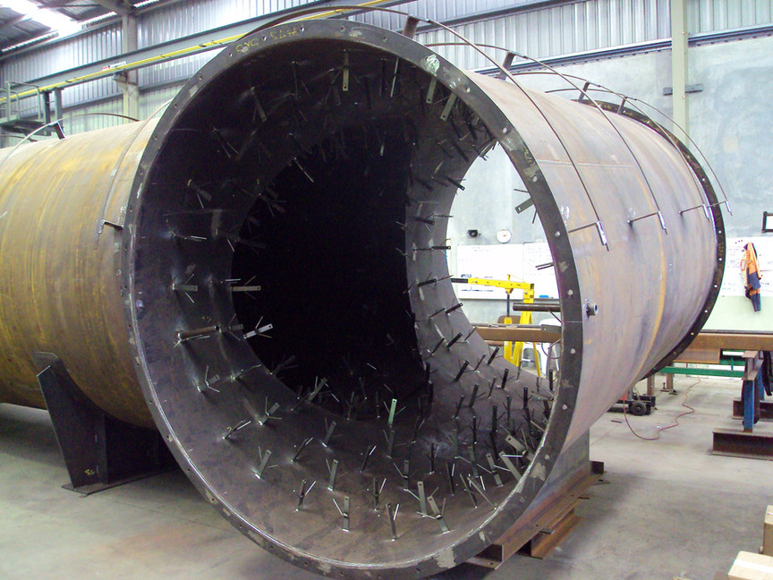 Design, fabrication and painting of 50 Tonne incinerator
