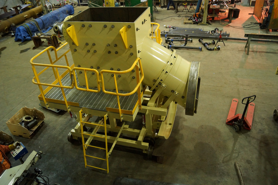Fabrication of lined chute for ball mill loading