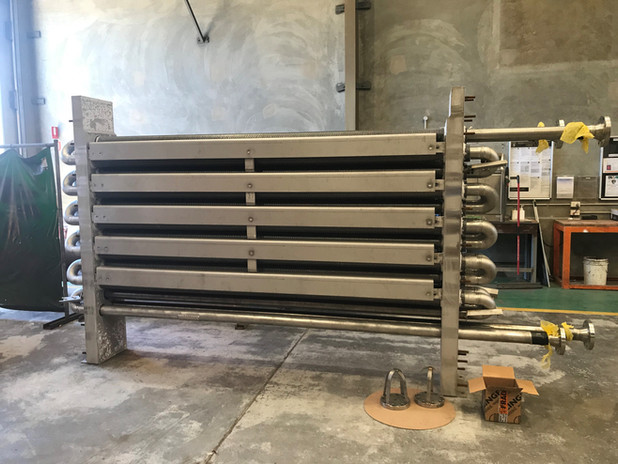 Fabrication and insulation Inconel of economiser