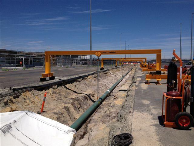 International Airport fuel line upgrade