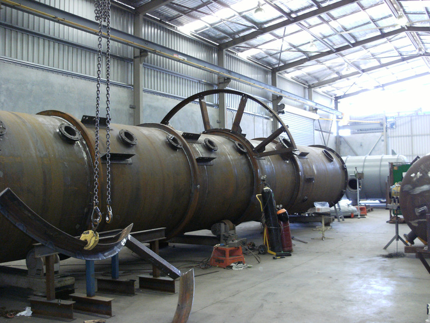 Design, fabrication and painting of pressure vessel