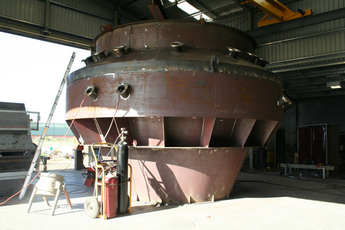 Fabrication of critical path waste gas scrubber
