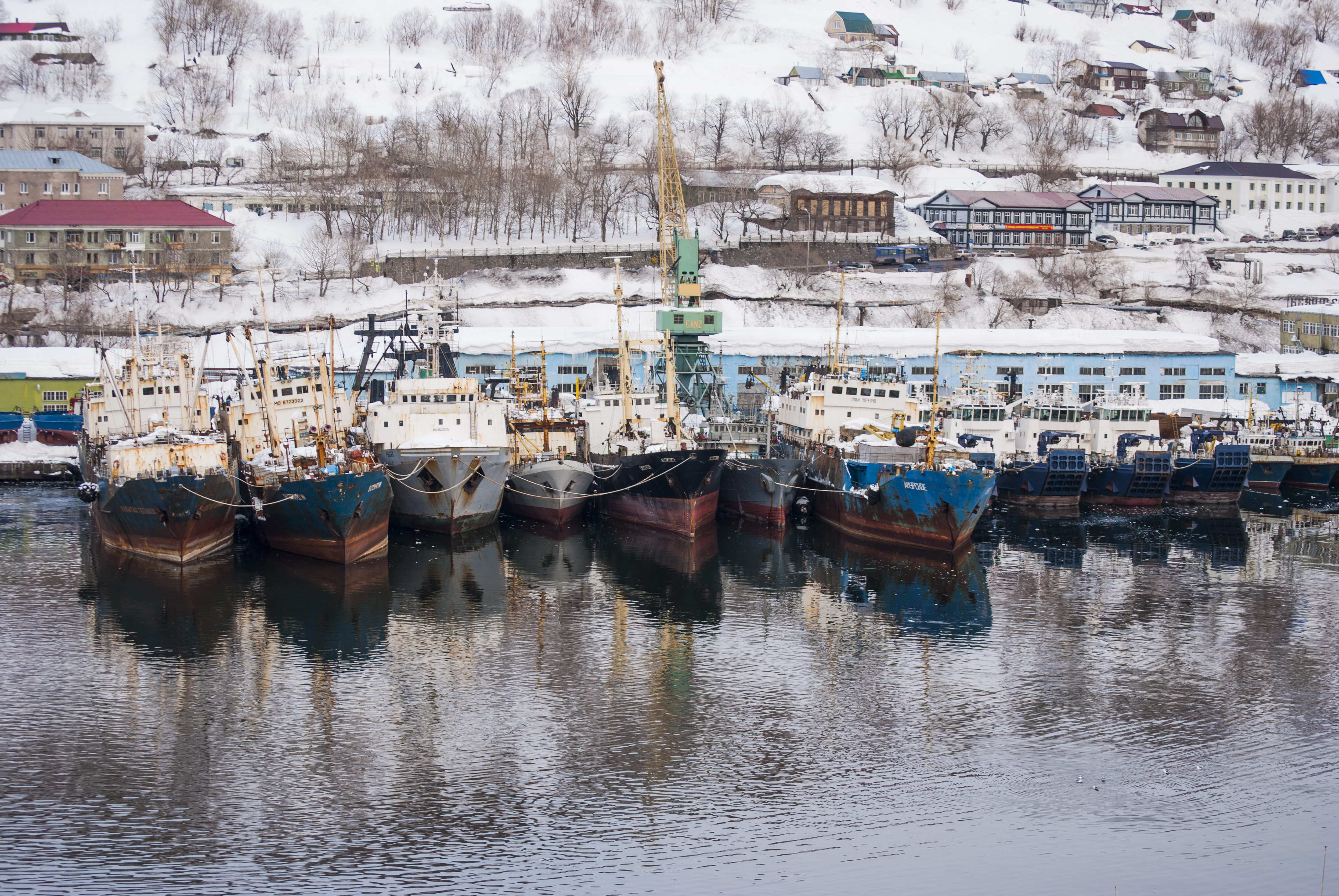 Confiscated Russian Crabbing Vessels