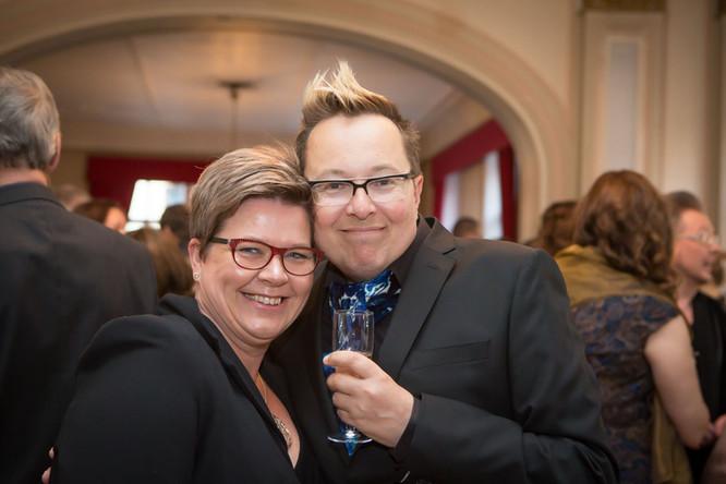 Marjo Riihimäki ja Ville Saukkonen