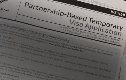 Formulário de Visto de Partner para Casais Nova Zelândia