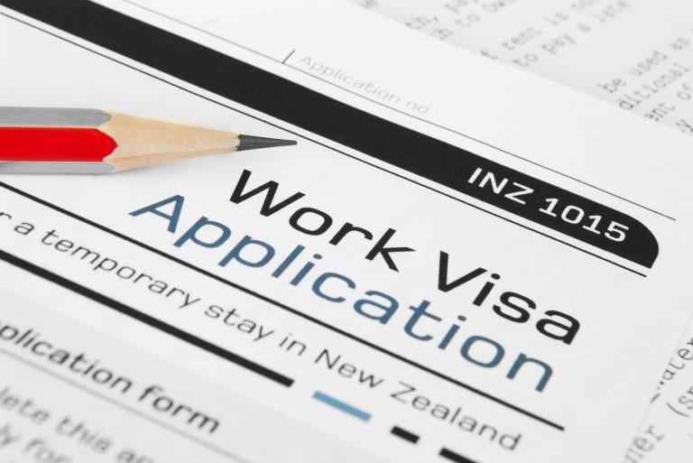 Formulário Visto de Trabalho Nova Zelândia