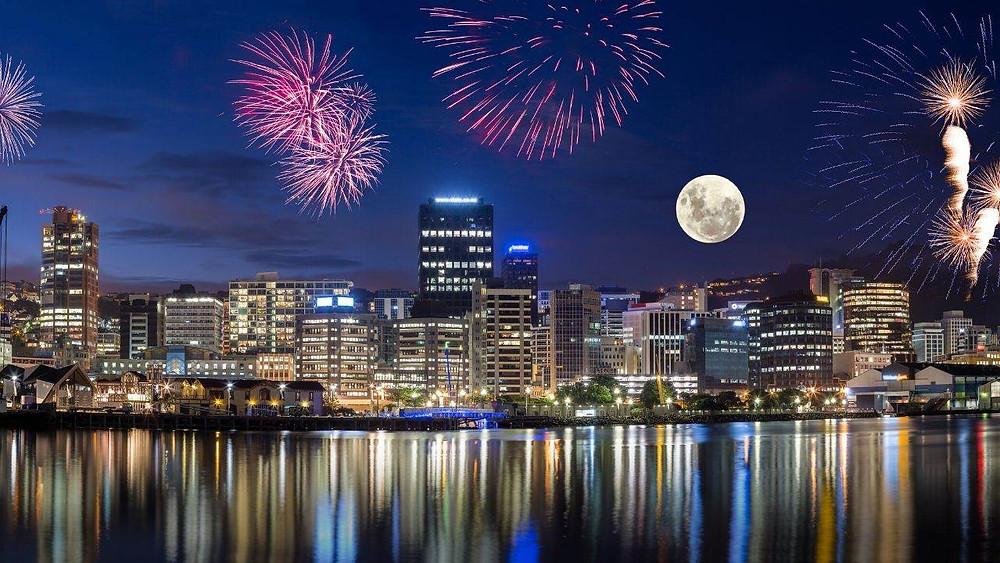 Foto de Wellington a noite