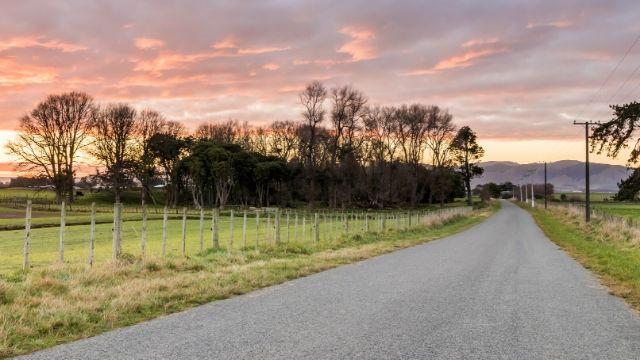 Foto de Estrada Rural na Nova Zelandia