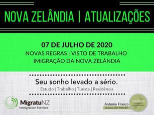 Novas Regras da Imigração da Nova Zelândia (07/07/20)