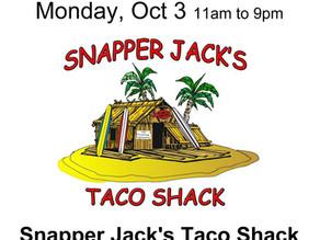 Restaurant Fundraiser Monday, Oct. 3