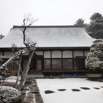 雪の風景 東京・八王子市 真言宗 玉泉寺