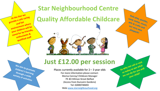Childcare Places Available! Apply now!