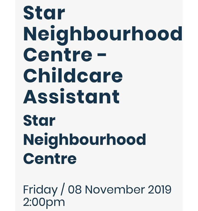 Star Neighbourhood Centre is hiring!