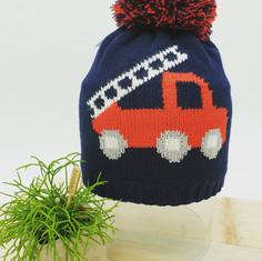 Bonnet tricot pompier