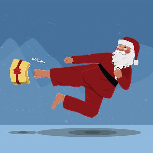 Martial Arts Santa