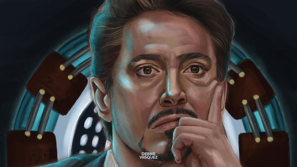 Tony Stark Illustration Close up