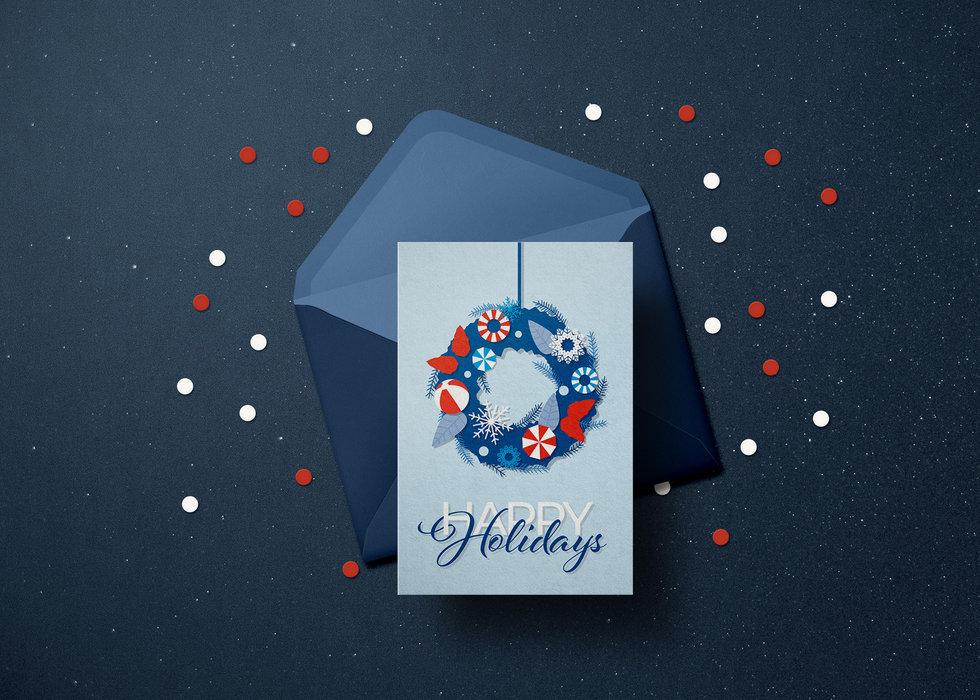 Unicel Holiday Card Mockup Unicel