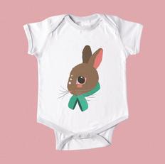 Peachy Bunny Baby Onesie
