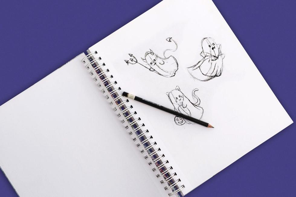 Trick or Treating Trio Sketch