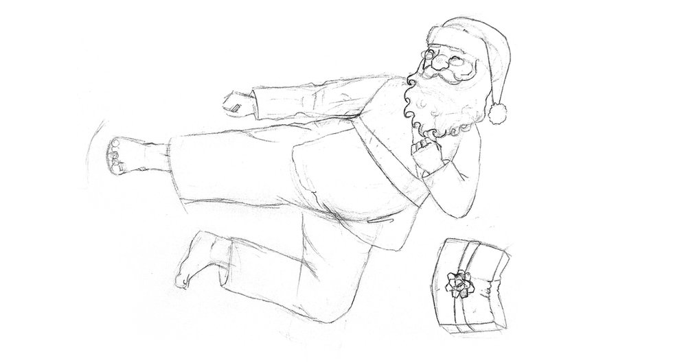 Karate Santa Sketch