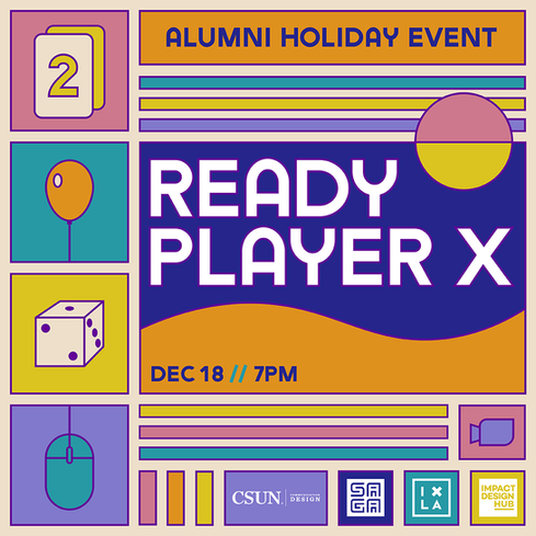 Ready Player X Alumni Holiday Event Flyer