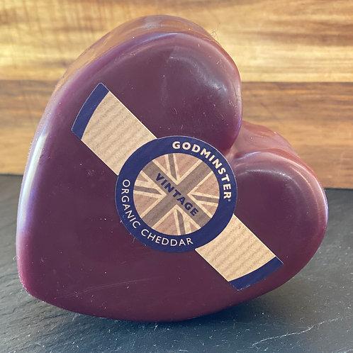 Godminster Heart Shaped Cheddar, 200g
