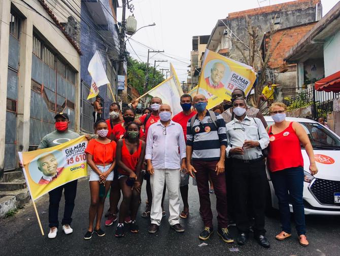 Em Cosme de Farias, Gilmar defende teleféricos para bairros populares