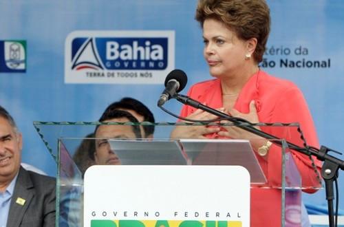 Dilma Rousseff em sua ultima visita a Bahia