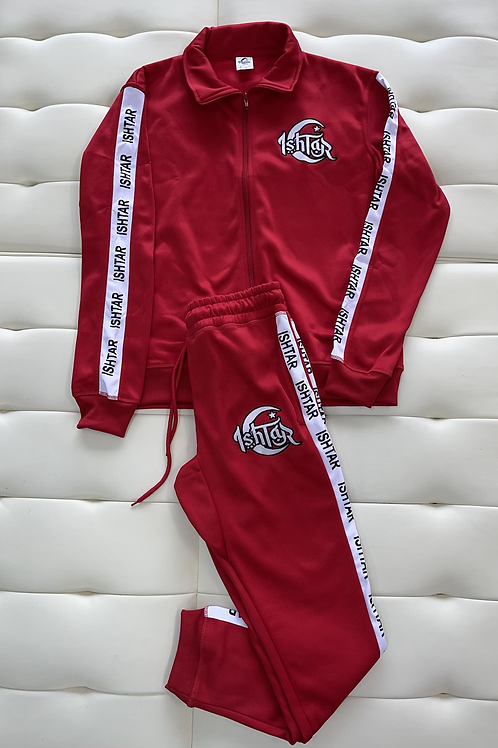 Red tracksuits