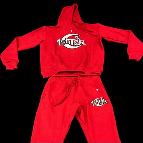 Red Jogger Set