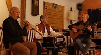 Pete, Rajesh and Dylan at Felin Fach studio