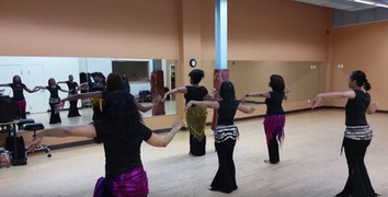 Instructors working on choreography