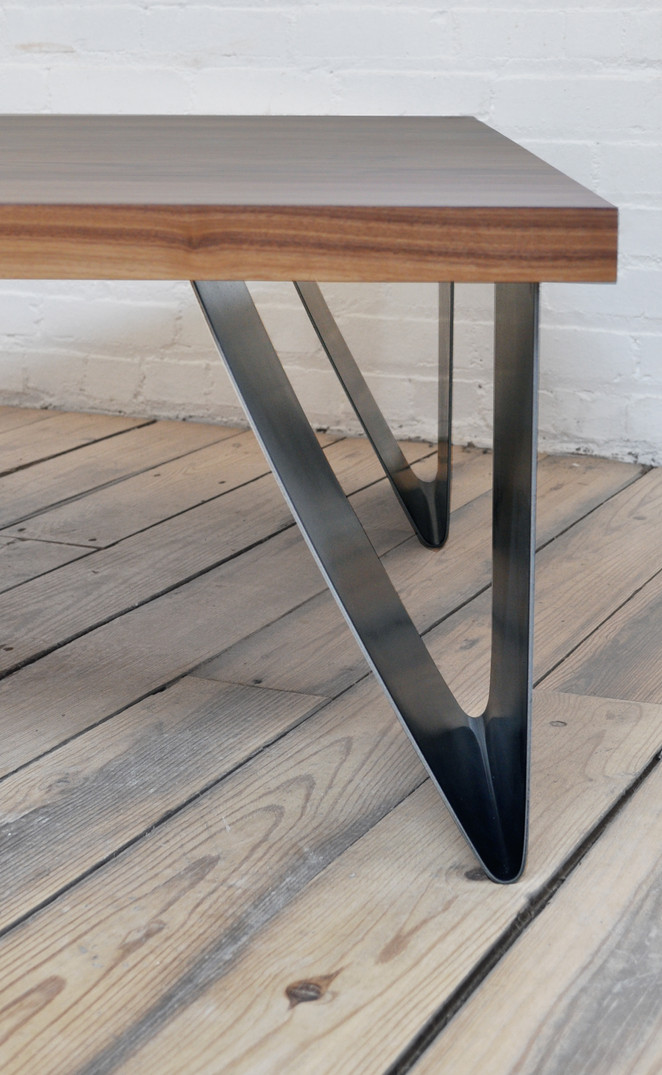 bent plate steel table collection