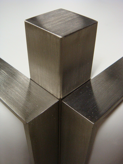 brushed stainless steel corner