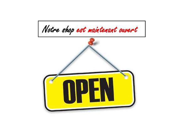 Notre shop est maintenant ouvert