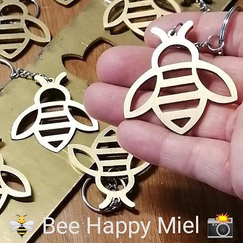 """Porte-Clé """"Bee Happy Miel"""""""