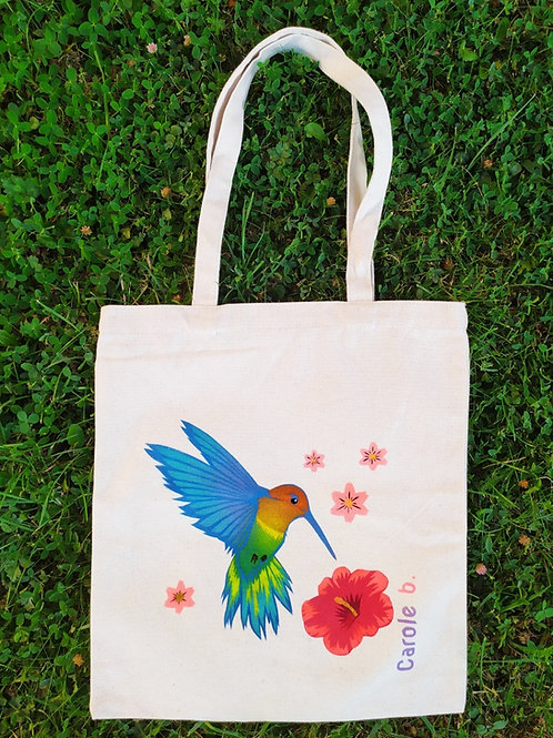 "Tote bag ""Colibri"" par Carole B."